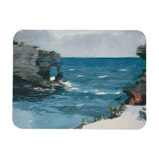 Winslow Homer - Rocky Shore, Bermuda Rectangular Photo Magnet