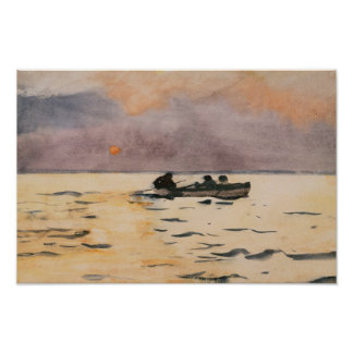 Winslow Homer - Rowing Home Poster