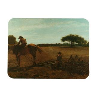 Winslow Homer - The Brush Harrow Rectangular Photo Magnet