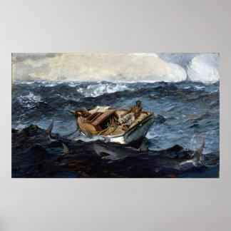 Winslow Homer The Gulf Stream Poster