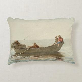Winslow Homer - Three Boys in a Dory Decorative Cushion