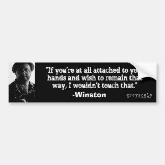 Winston Bumper Sticker