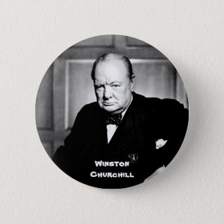 Winston Churchill 6 Cm Round Badge