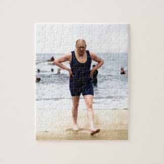 Winston Churchill at the seaside Jigsaw Puzzle