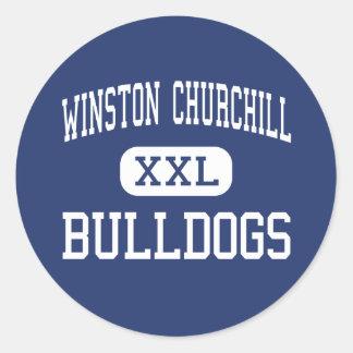 Winston Churchill - Bulldogs - High - Potomac Classic Round Sticker