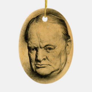 Winston Churchill Ceramic Ornament