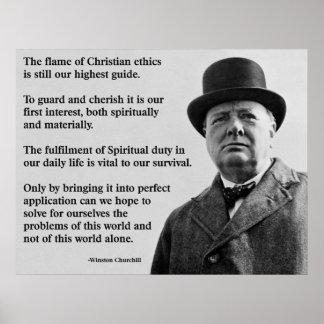 Winston Churchill Christian Poster