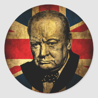 Winston Churchill Classic Round Sticker