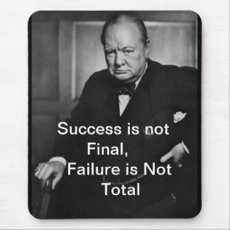 Winston Churchill - Mousepad - Success