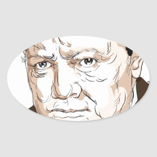 Winston Churchill Oval Sticker