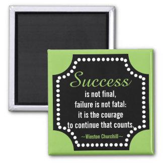 Winston Churchill Positive Attitude Quote Magnet