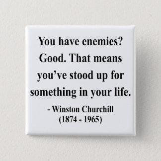 Winston Churchill Quote 3a 15 Cm Square Badge