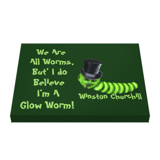 Winston Churchill Quote Canvas Print
