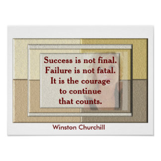 Winston Churchill - quote poster