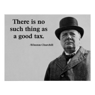 Winston Churchill Quote Poster