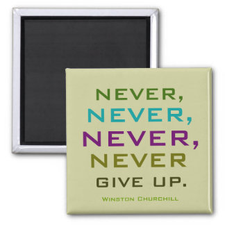 winston churchill quote square magnet