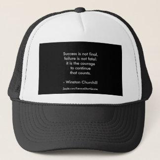 Winston Churchill Quote; Success 2.0 Trucker Hat