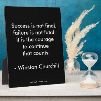 Winston Churchill Quote; Success Plaque