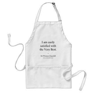 Winston Churchill Quote; The Very Best Standard Apron