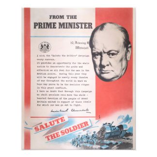 Winston Churchill, Reprint of British WW2 poster