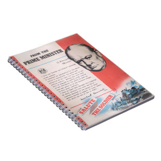 Winston Churchill, Reprint of British WW2 poster Notebooks