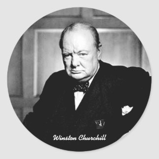 Winston Churchill Round Sticker