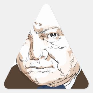 Winston Churchill Triangle Sticker