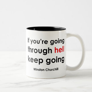Winston Churchill Two-Tone Coffee Mug