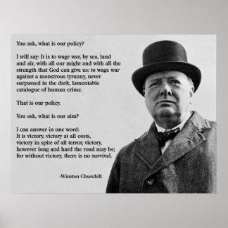 Winston Churchill Victory Poster