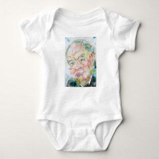 winston churchill - watercolor portrait.2 baby bodysuit