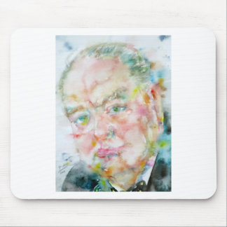 winston churchill - watercolor portrait.2 mouse pad