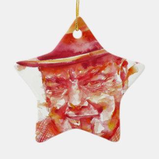 winston churchill - watercolor portrait ceramic ornament