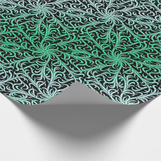 Winston Forest Green and Black Wrapping Paper