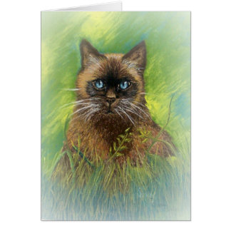 Winston, our Seal Point Siamese Cat Card