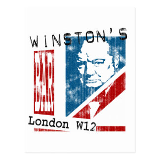Winston s Bar London worn look Post Cards