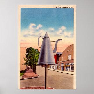Winston Salem North Carolina The Big Coffee Pot Poster