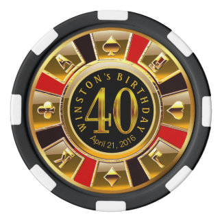 Winston Vegas Casino Chip Red & Black