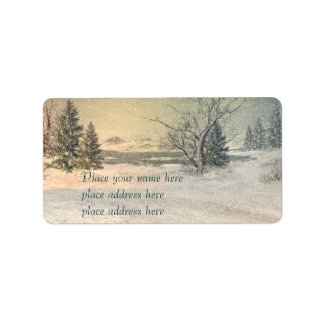 Winter adress lable label
