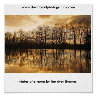 winter afternoon by the river tham print