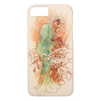 Winter - Alphonse Mucha Art Nouveau iPhone 7 Case