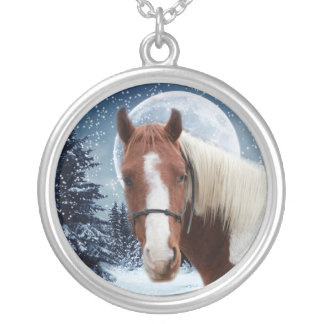 Winter American Paint Horse Jewelry