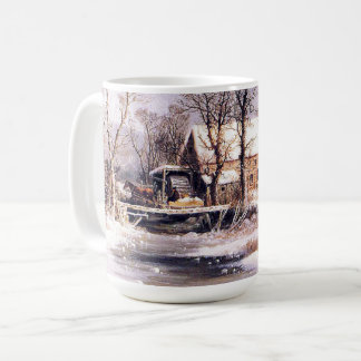 Winter Americana Horses Sleigh Millhouse Creek Mug