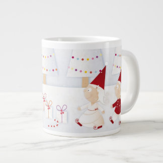 Winter and forest all covered with snow jumbo mug