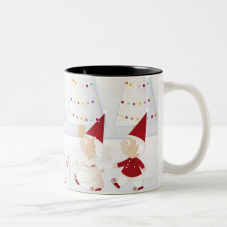 Winter and forest all covered with snow mug