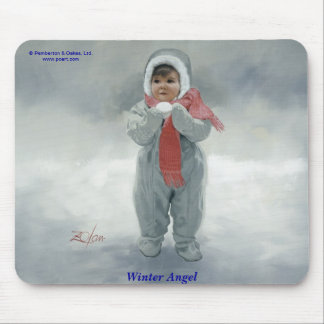 Winter Angel Mouse Pad