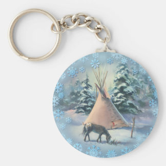 WINTER APPALOOSA TIPI by SHARON SHARPE Key Ring