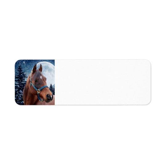 Winter Arabian #3 Return Address Label