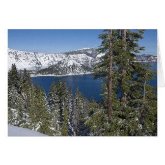 Winter at Crater Lake Card