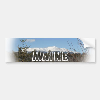 Winter at Katahdin Bumper Sticker