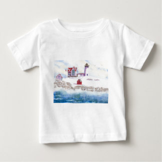 Winter at Nubble LIghthouse in Maine Baby T-Shirt